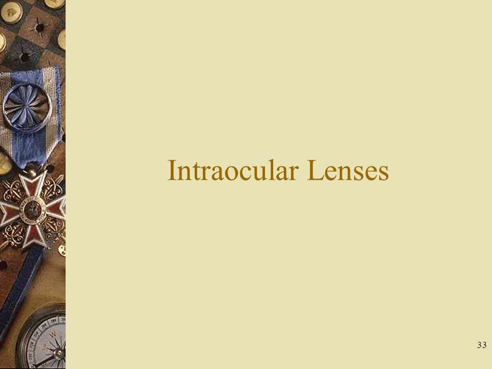 Intraocular Lenses
