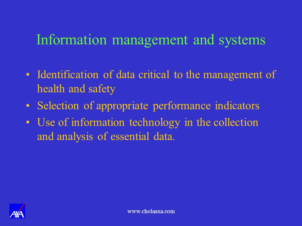 Information management and systems
