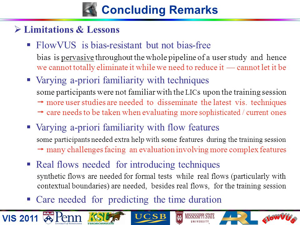 FlowVUS Concluding Remarks Limitations & Lessons