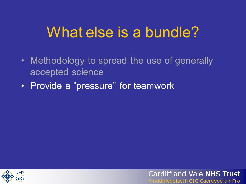 What else is a bundle. Methodology to spread the use of generally accepted science.