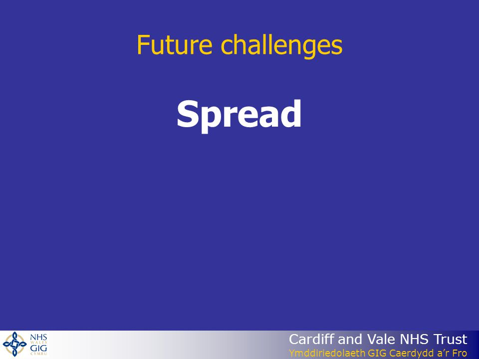 Future challenges Spread