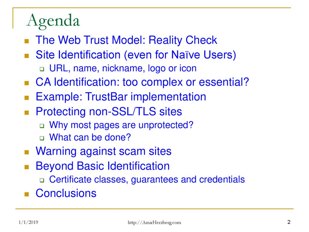 Fixing The Web Trust Model Ppt Download