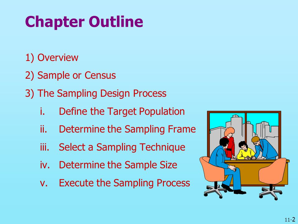 Chapter Outline 1) Overview 2) Sample or Census