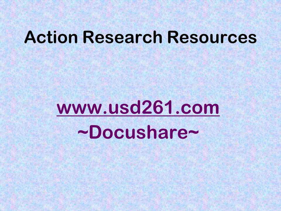 Action Research Resources