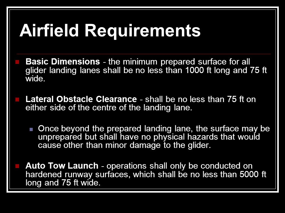 Airfield Requirements