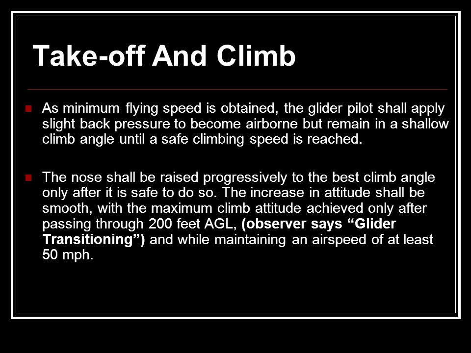Take-off And Climb