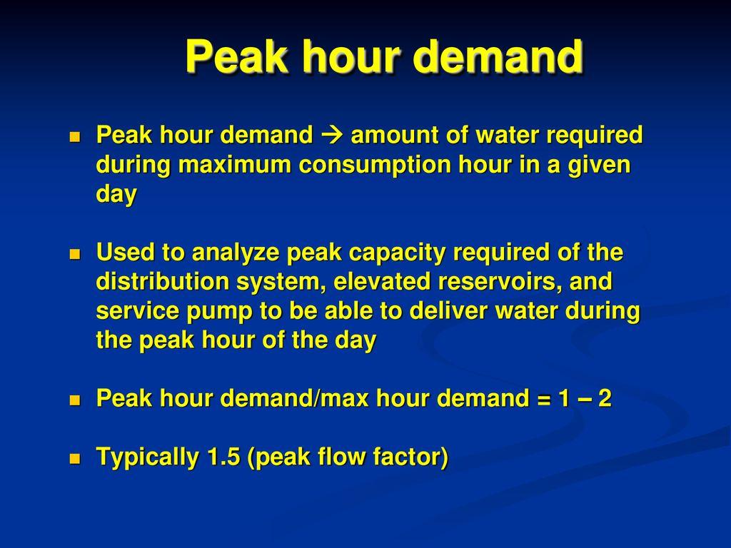 Week 5: Water Demand WATER SUPPLY ENGINEERING EAT ppt download