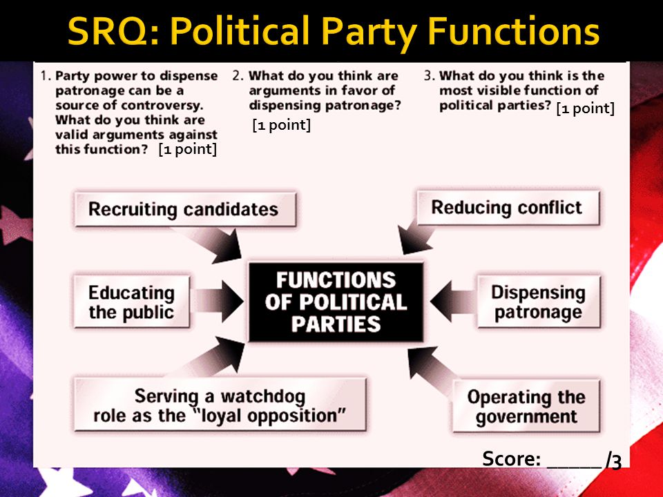 SRQ: Political Party Functions