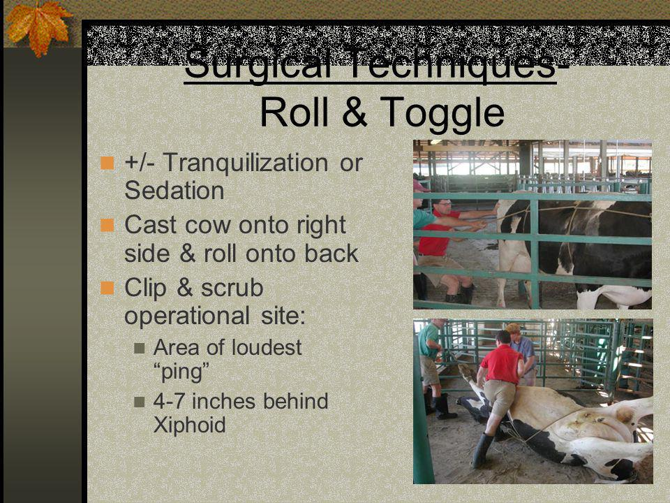 Surgical Techniques- Roll & Toggle