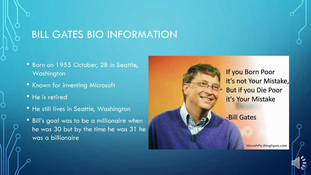 Bill Gates By aidan treff  - ppt download
