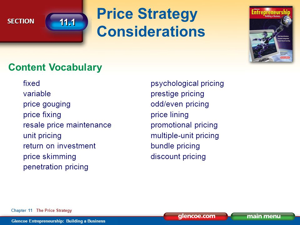 Content Vocabulary fixed variable price gouging price fixing