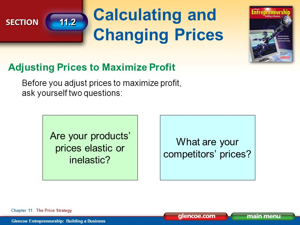Adjusting Prices to Maximize Profit