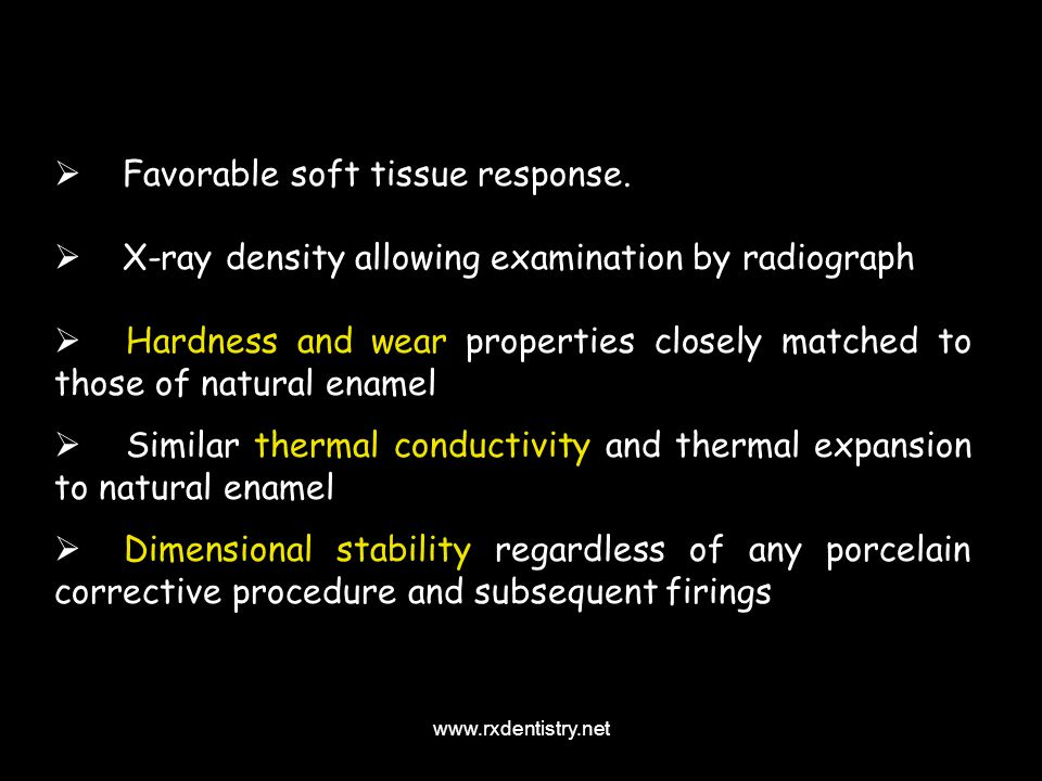 Favorable soft tissue response.