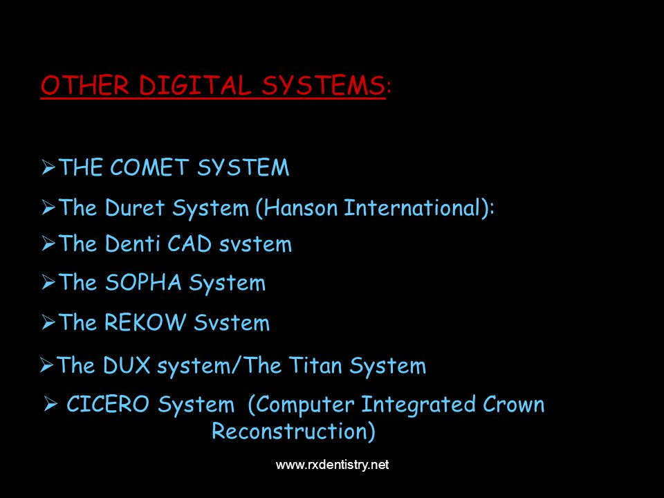 CICERO System (Computer Integrated Crown Reconstruction)