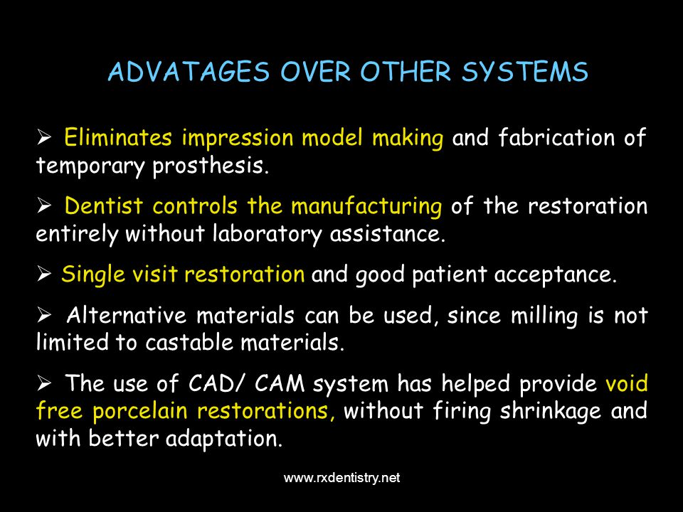 ADVATAGES OVER OTHER SYSTEMS