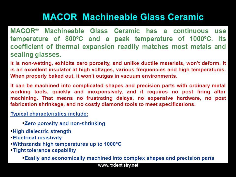 MACOR Machineable Glass Ceramic