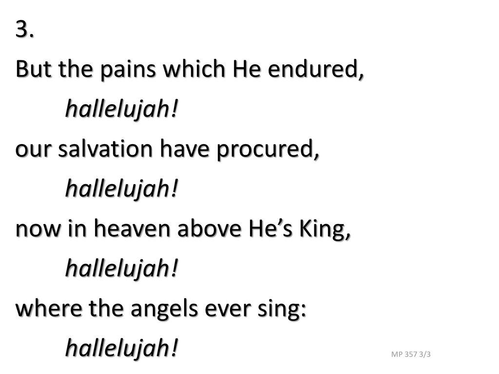 Jesus Christ is risen today R Williams Mission Praise