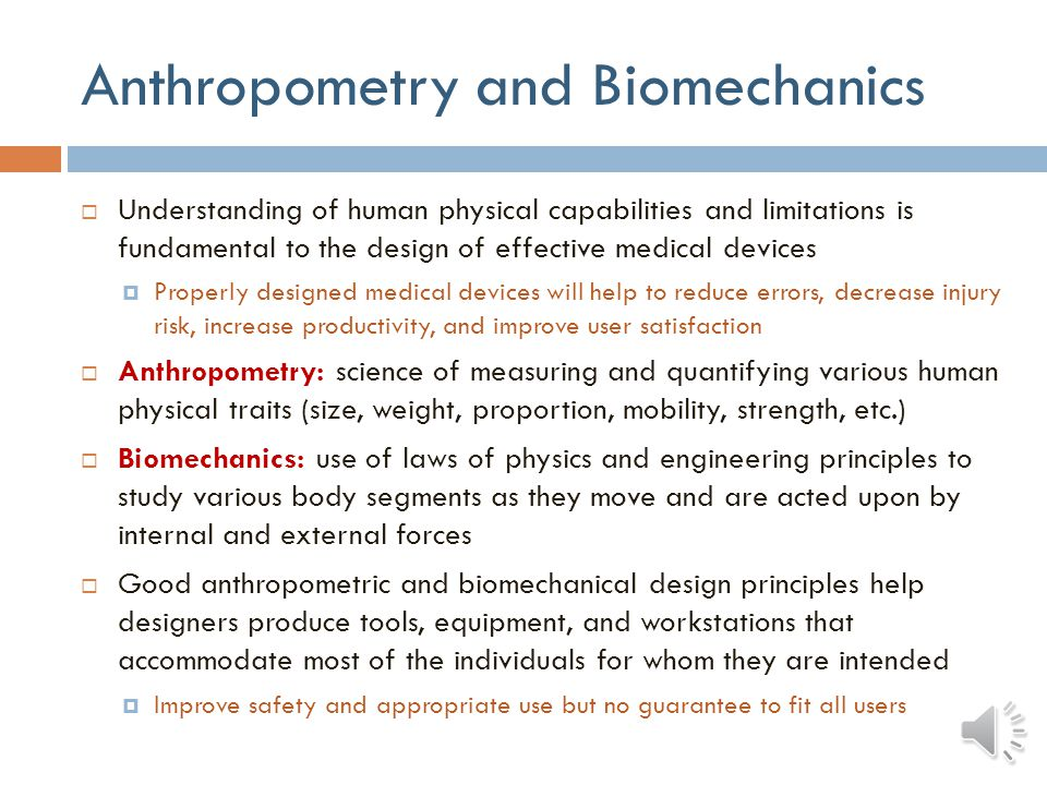 Anthropometry and Biomechanics