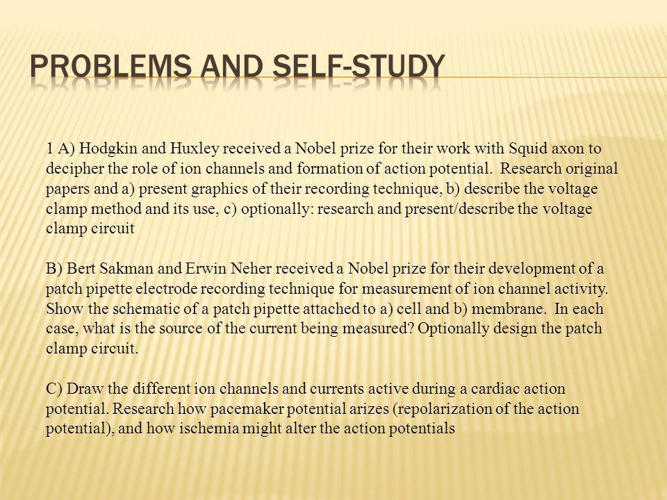Problems and Self-study