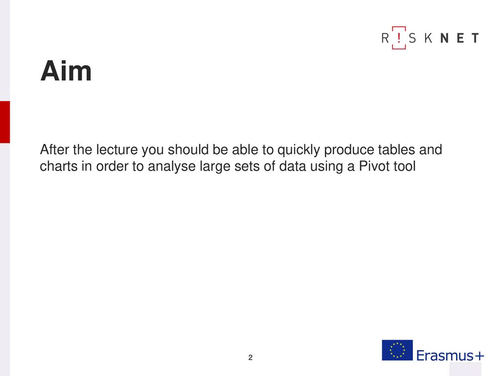 Using Pivot tools for data analysis - ppt download