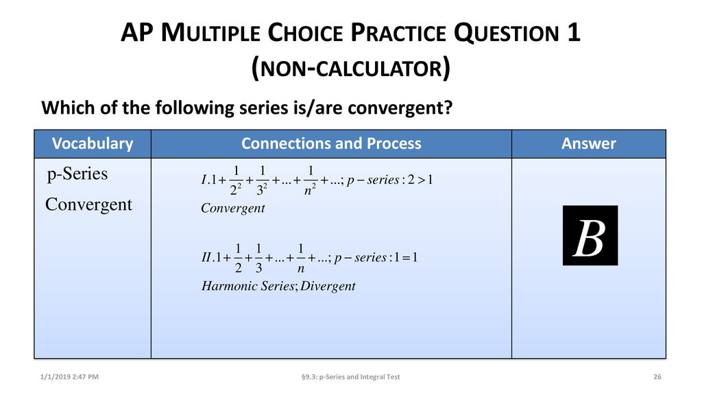 P-Series and Integral Test - ppt download