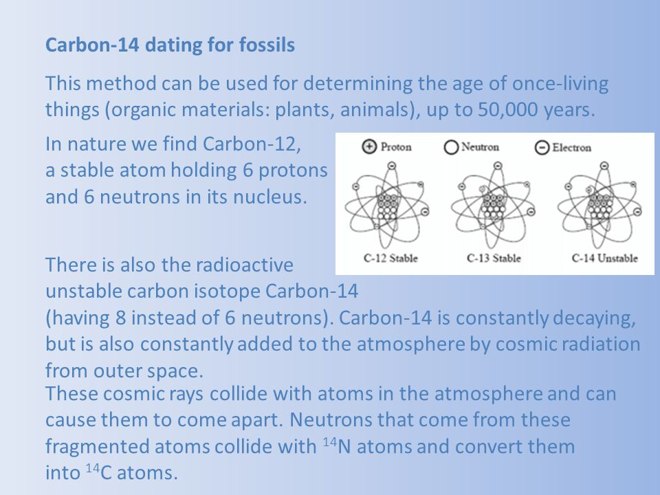 Carbon-14 dating for fossils
