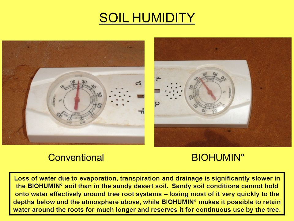 SOIL HUMIDITY Conventional BIOHUMIN°