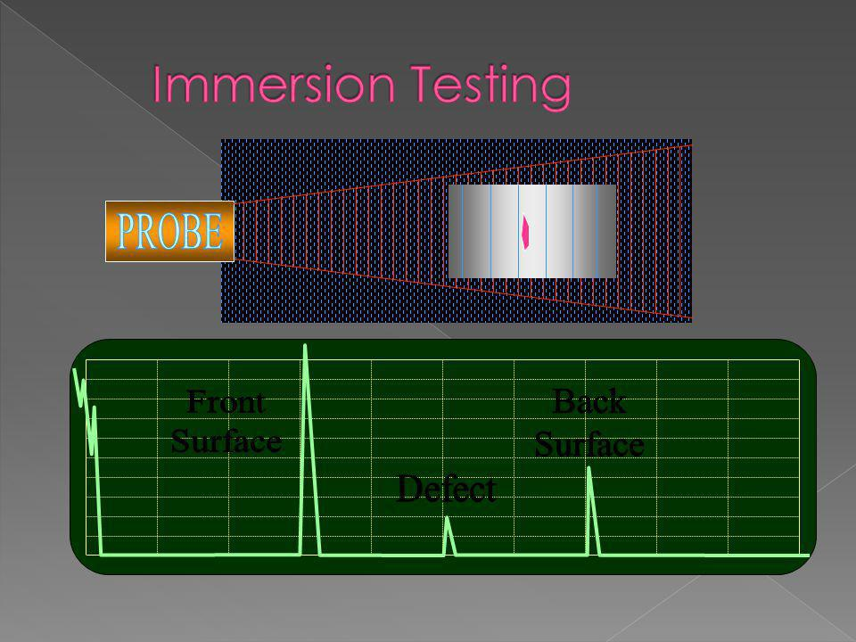 Immersion Testing PROBE Front Surface Defect Back