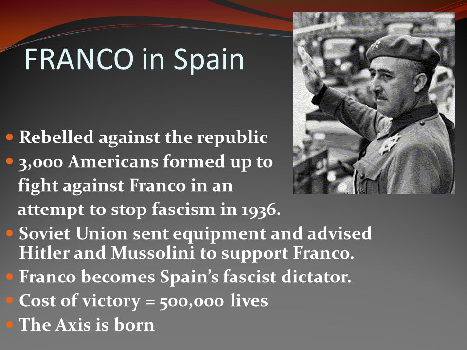 FRANCO in Spain Rebelled against the republic