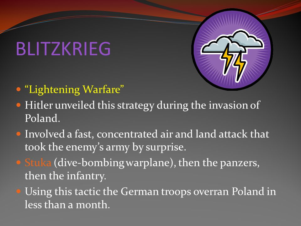 BLITZKRIEG Lightening Warfare
