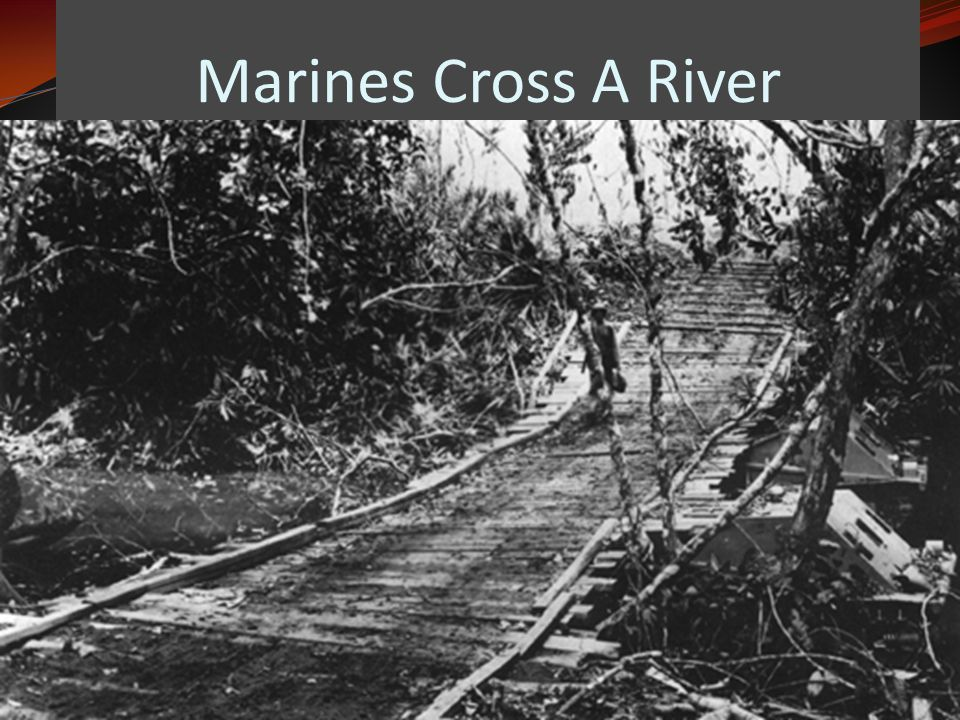 Marines Cross A River