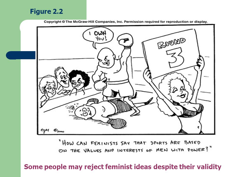 Figure 2.2 Some people may reject feminist ideas despite their validity