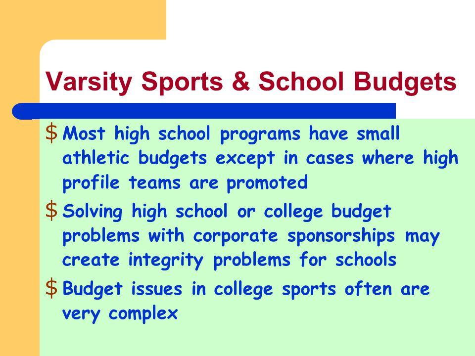 varsity sports school budgets