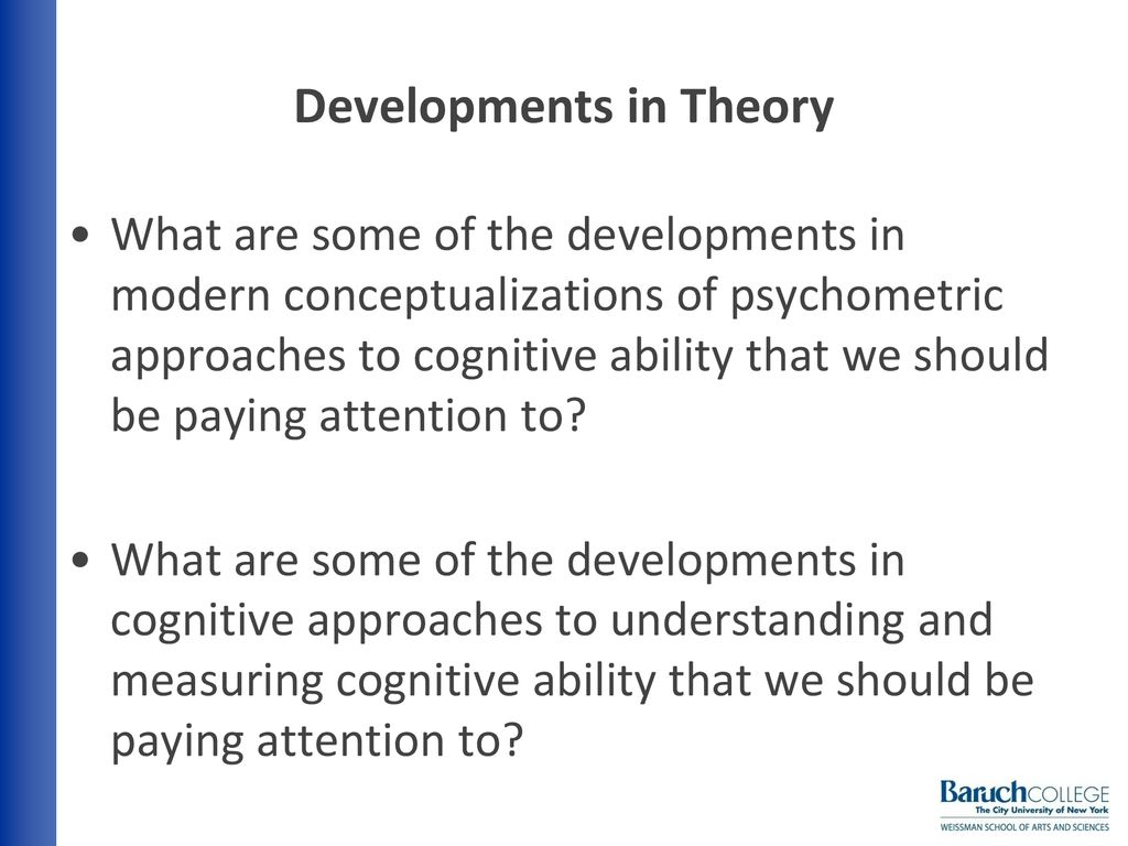 psychometric approach to cognitive development