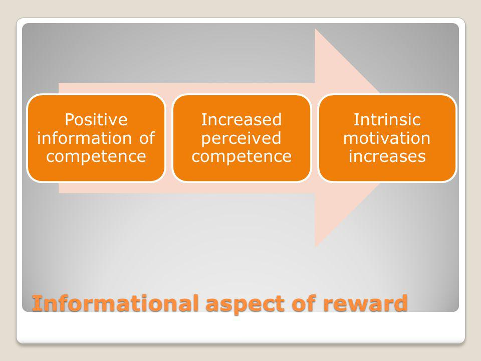 Informational aspect of reward