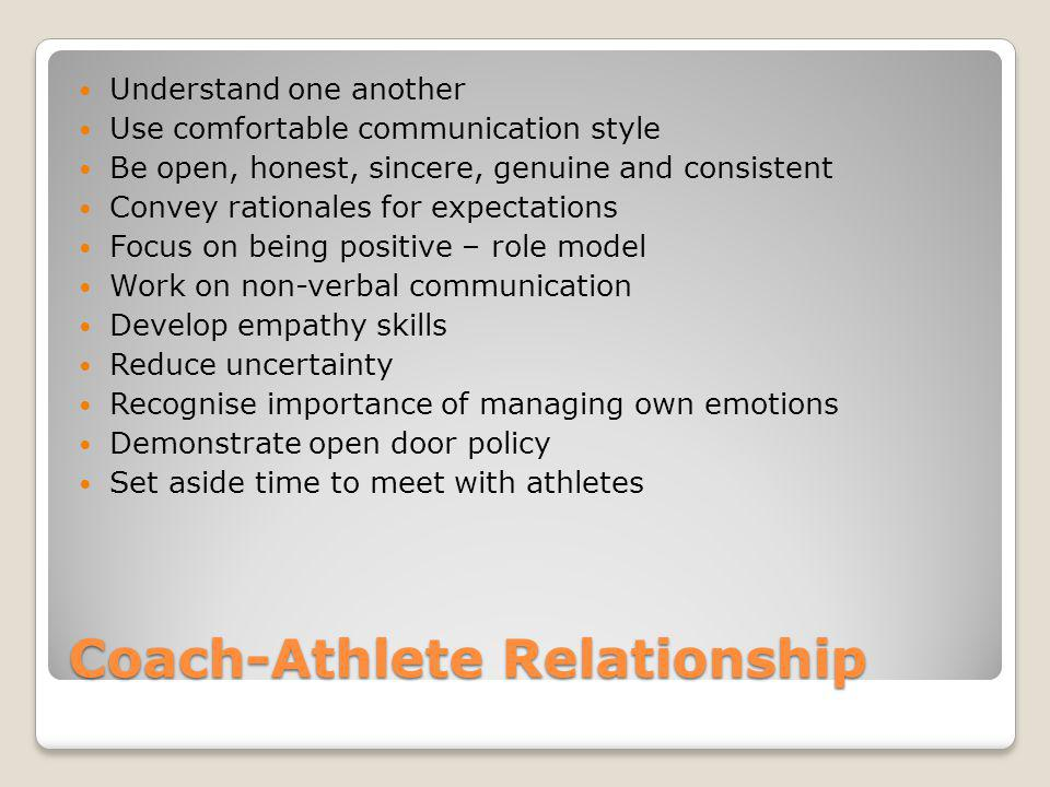 Coach-Athlete Relationship