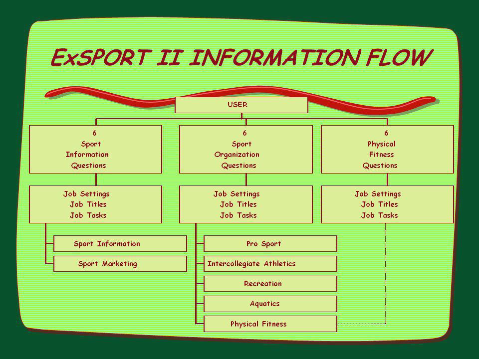 ExSPORT II INFORMATION FLOW