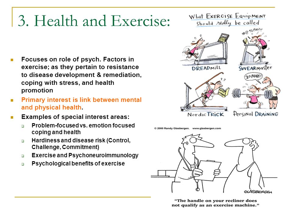 3. Health and Exercise: