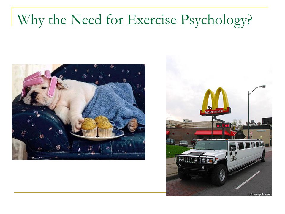 Why the Need for Exercise Psychology