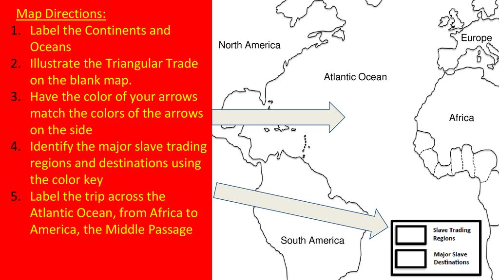 the triangular trade involved what 3 regions