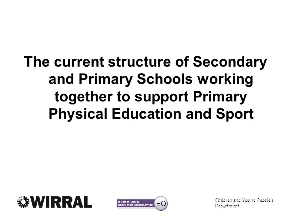 The current structure of Secondary and Primary Schools working together to support Primary Physical Education and Sport