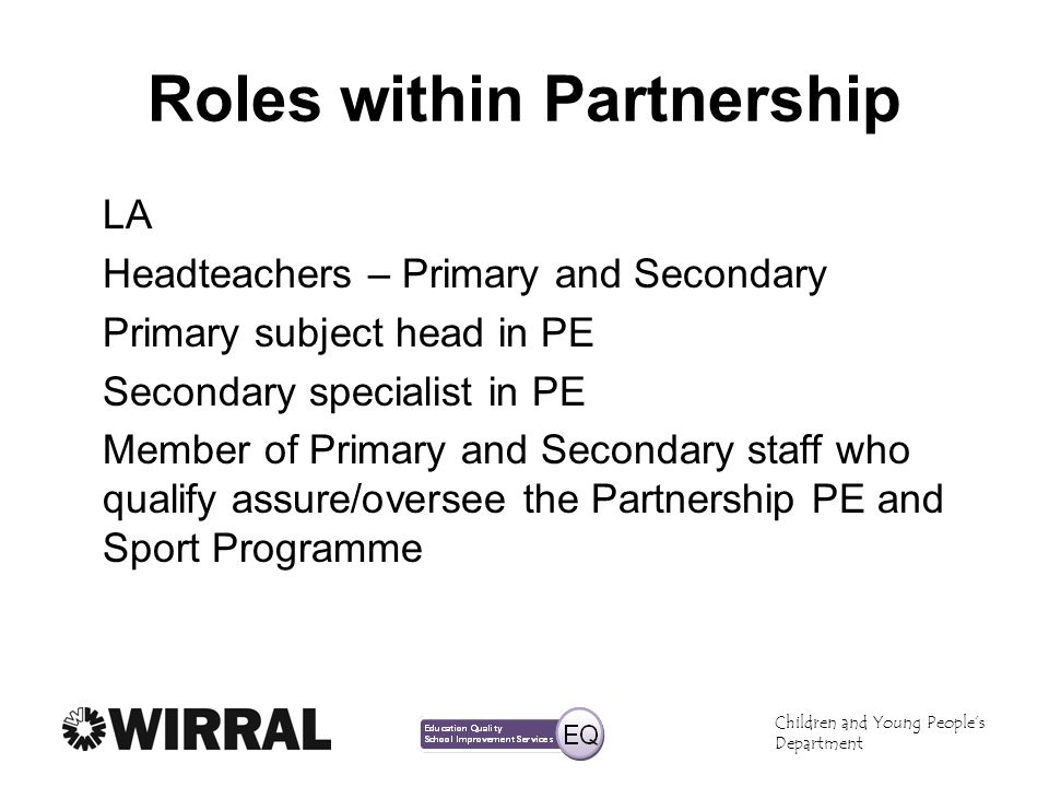 Roles within Partnership