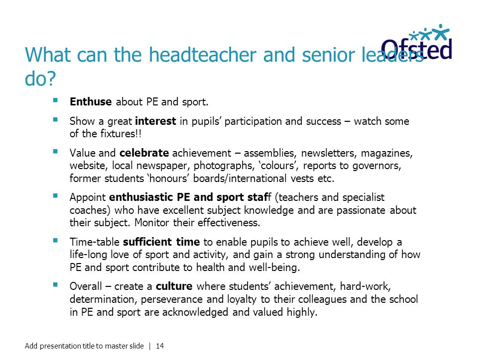 What can the headteacher and senior leaders do