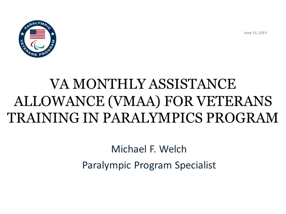 Michael F. Welch Paralympic Program Specialist