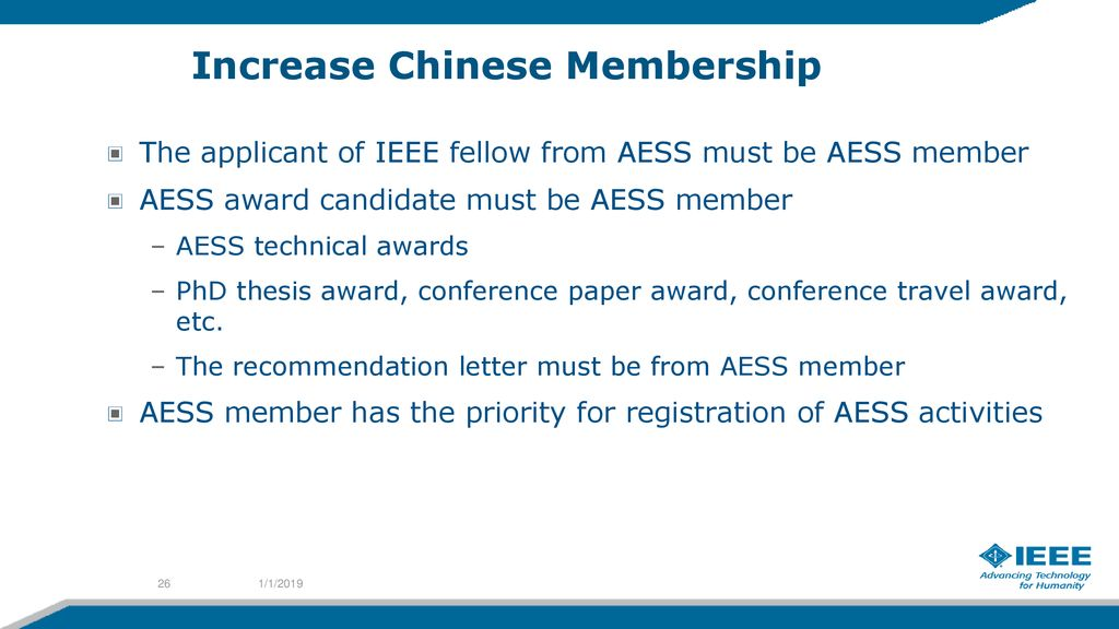 AESS Membership in China – A Strategic Outlook Xiaopeng Yang - ppt