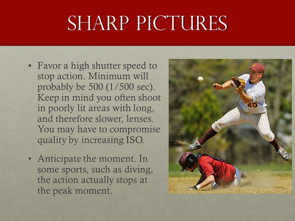 Sharp pictures
