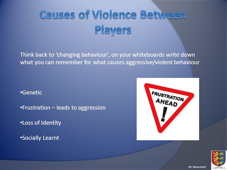 Causes of Violence Between Players