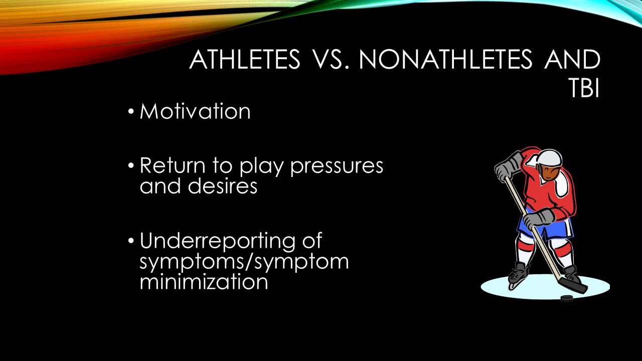 ATHLETES VS. NONATHLETES AND TBI