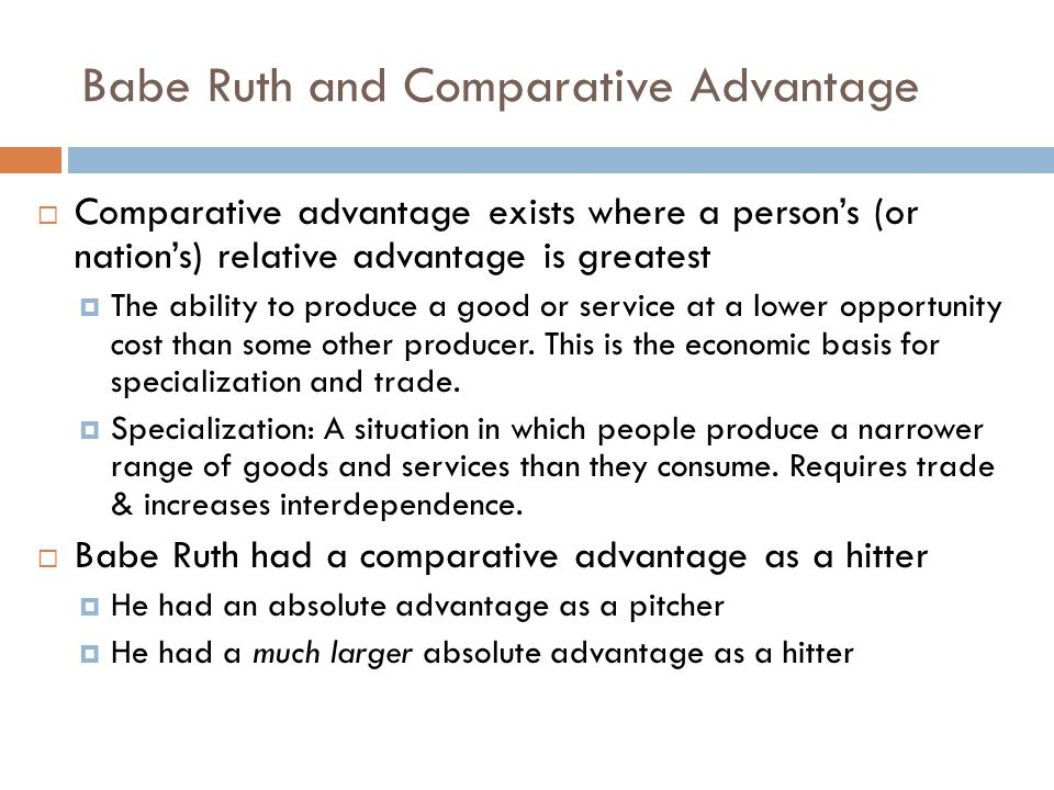 Babe Ruth and Comparative Advantage