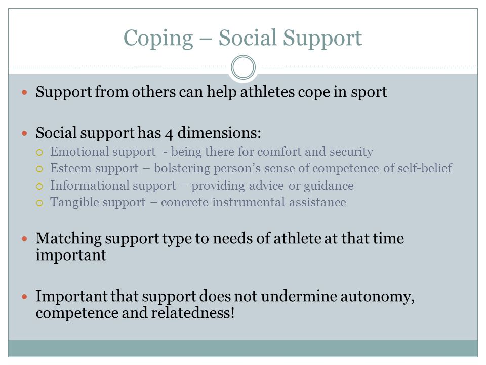 Coping – Social Support
